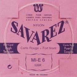 Savarez 526R Corde de mi Grave 6ième Carte Rouge