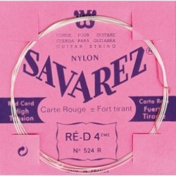 Savarez 524R Corde de RE 4ième Carte Rouge