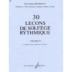 30 leçons de solfege rythmique de Bourdeaux ed Billaudot