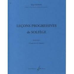 LECONS PROGRESSIVES DE SOLFEGE VOL 1 DE GRIMOIN