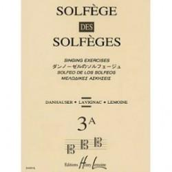 Solfège des Solfèges vol 3A nouvelle edition  dauhauser ed lemoine