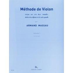 Méthode de violon vol 1 de Armand Massau ed Combre