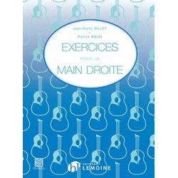 Exercices pour la main droite - BILLET Jean-Pierre / BRUN Patrick