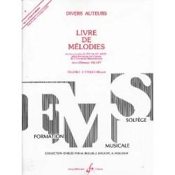 Livre de Mélodies vol 1 ed billaudot