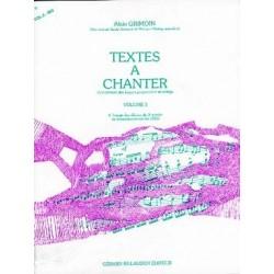 TEXTES A CHANTER de Alain Grimoin  vol 3