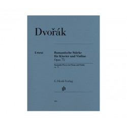 DVORAK Romantic Pieces for Violin and Piano op. 75