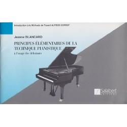 Principes élémentaires de la technique pianistique de J.blanchard