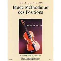 Ecole du violon Etude méthodique des positions M. Hauchard  4 éme cahier
