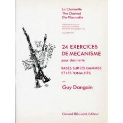 24 Exercices De Mecanisme - DANGAIN Guy