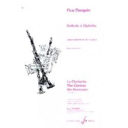 Ballade à Ophélie pour clarinette et piano Guy Dangain