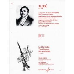 A La Portee Du Jeune Clarinettiste Volume 1- KLOSE Hyacinte