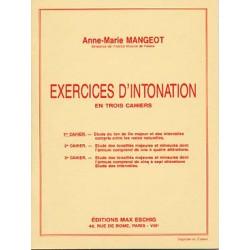 Exercices d'intonation cahier 1 de A.M Mangeot