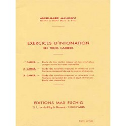 Exercices d'intonation cahier 2 de A.M Mangeot