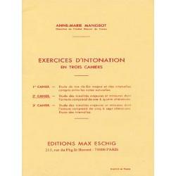 Exercices d'intonation cahier 2 de A.M Mangeot