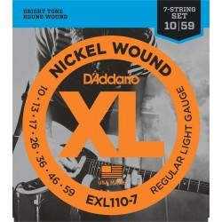D'Addario EXL110-7 - 7cordes