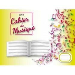 Cahier de musique 4 portées