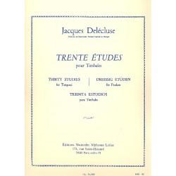 30 Études pour timbales -...
