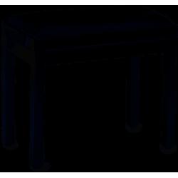 Banquette de piano noir mat