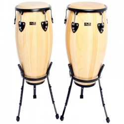 "Set Congas Club Salsa 10""+ 11""+ Stand"