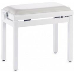 Banquette de piano blanc mat
