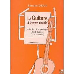 la guitare à travers chants (1re et 1e années) de simone Derai ed Hcube