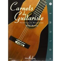 Carnets du guitariste Vol.3 - RIVOAL Yvon