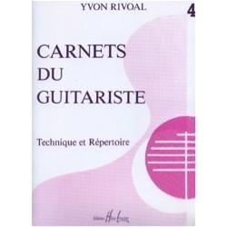 Carnet du guitariste technique et répertoire vol 4 de Yvon Rivoal