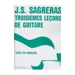 Troisièmes leçons de guitare de J.S Sagreras