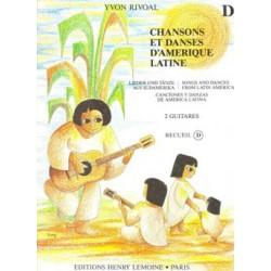 Chansons et danses d'Amérique Latine 2 guitares recueil D de Yvon Rivoal