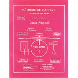 Methode de batterie vol 1 partitions et application du solfege de Dante Agostini