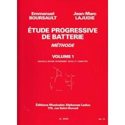 Etude progressive de batterie vol 1 de E.Boursault et JM Lajudie