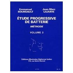 Etude progressive de batterie vol 2 de E.Boursault et JM Lajudie