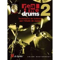 Real time drums vol 2 in songs & styles + cd  de Arjen Oosterhout