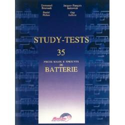study-tests 35 pièces solos et epreuves de batterie