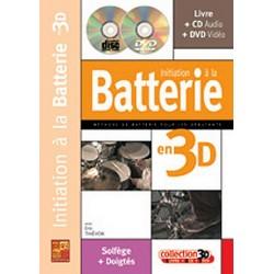 Initiation à la batterie en 3D avec cd et dvd de Eric Thiévon