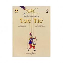 Tac Tic pour percussion vol 2 avec cd  de Nicolas Martynciow