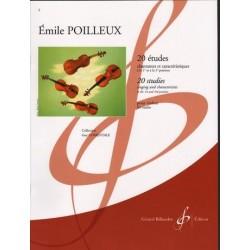 POILLEUX 20 études chantantes pour Violon
